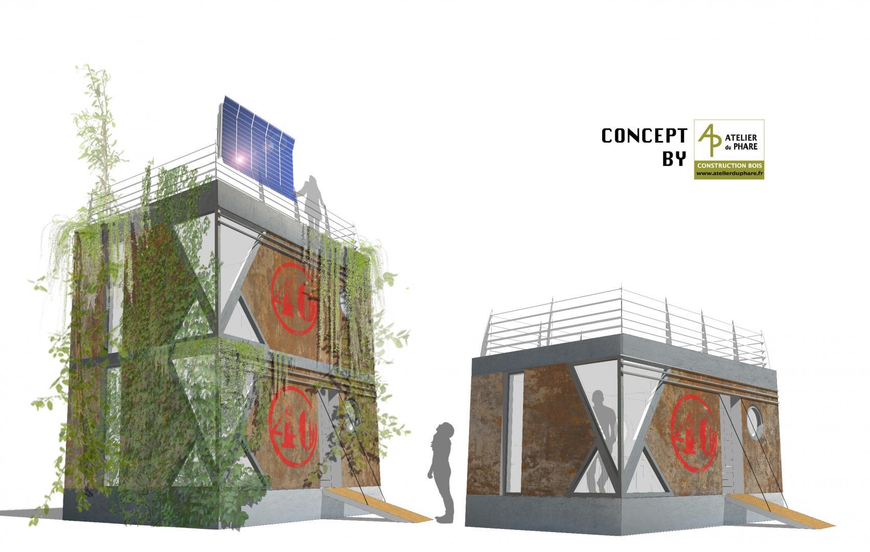 construction maison bois etretat l 39 atelier du phare charpente fecamp honfleur le havre. Black Bedroom Furniture Sets. Home Design Ideas