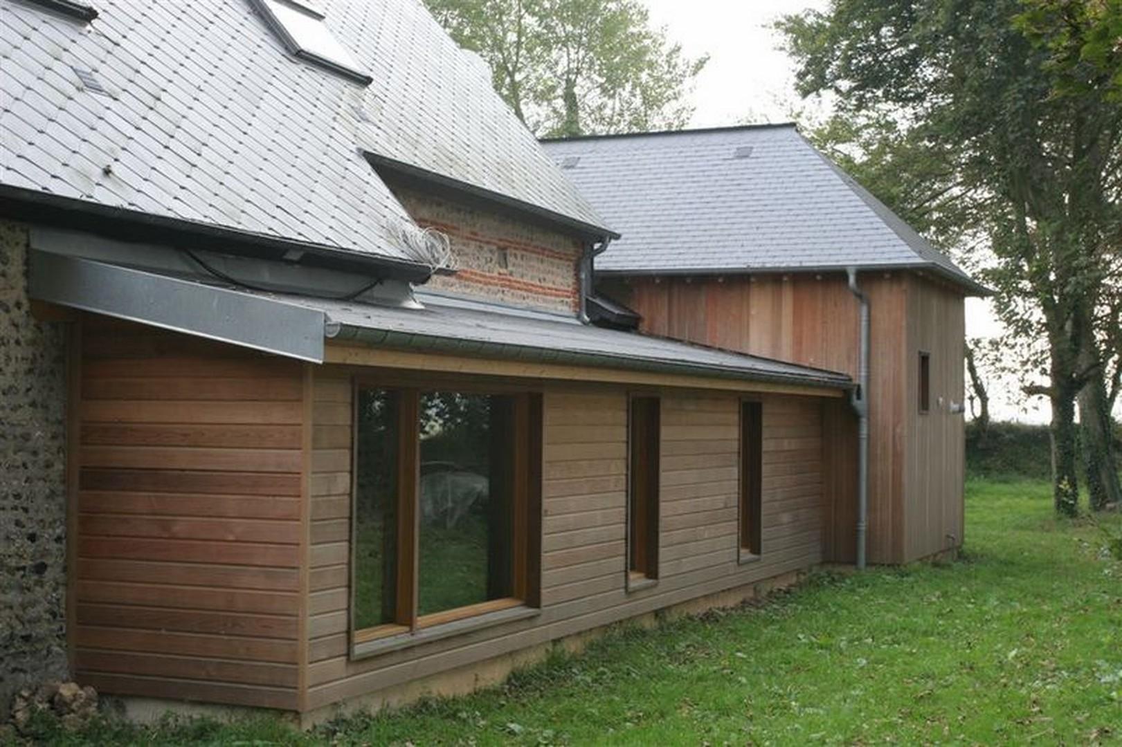 Construction maison bois etretat l 39 atelier du phare for Agrandissement maison bois