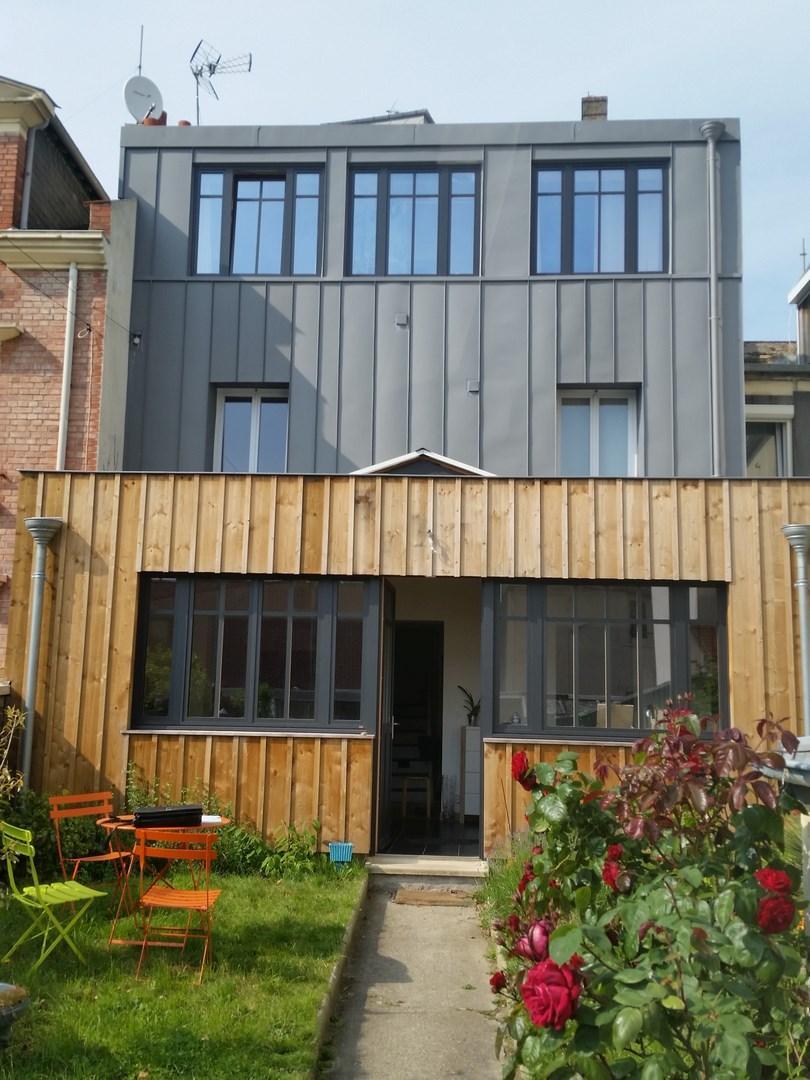 Construction maison bois etretat l 39 atelier du phare for Extension maison bois 06